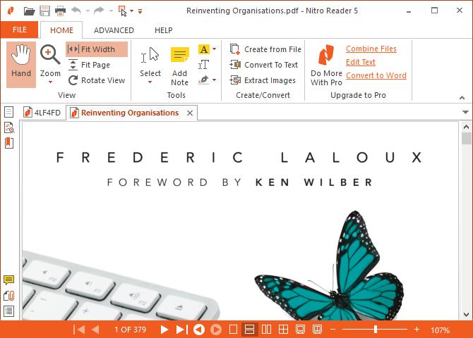 Ceci est une capture d'écran de Nitro PDF Reader