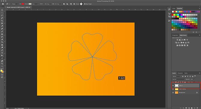 Comment utiliser l'outil de forme personnalisée Photoshop Dessinez votre forme