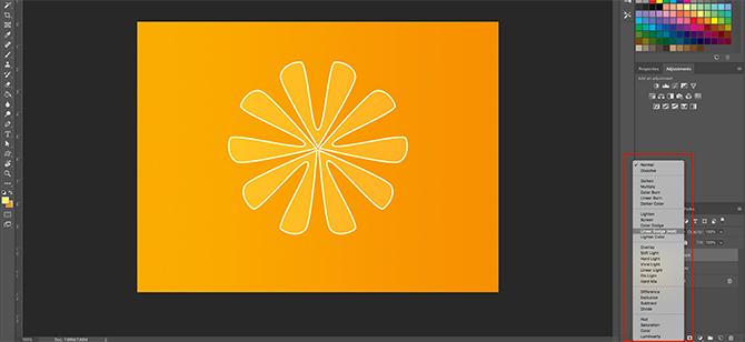 Comment utiliser l'outil de forme personnalisée Photoshop Utiliser le mode de fusion