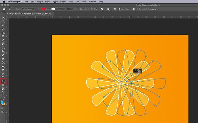 Comment utiliser l'outil de forme personnalisée Sélection du chemin Photoshop