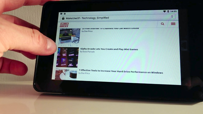 Himbeer-Pi-Tablet mit Android