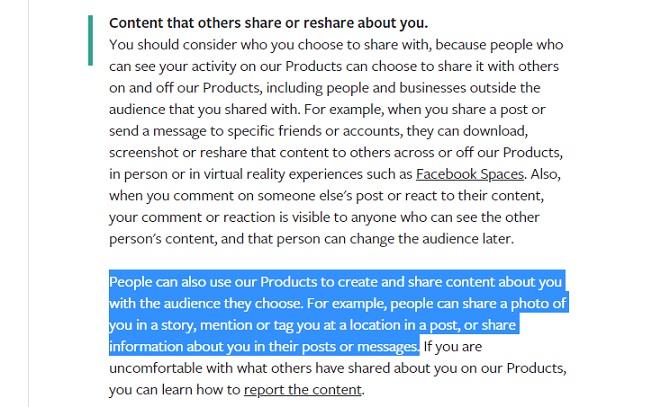 Paramètres de confidentialité partageant les balises des messages des messages