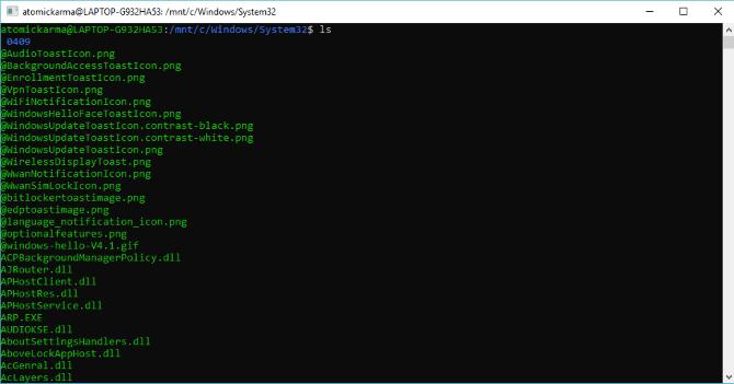 Parcourir les dossiers système Windows dans Bash