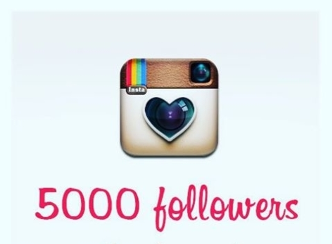 5000 followers sur instagram