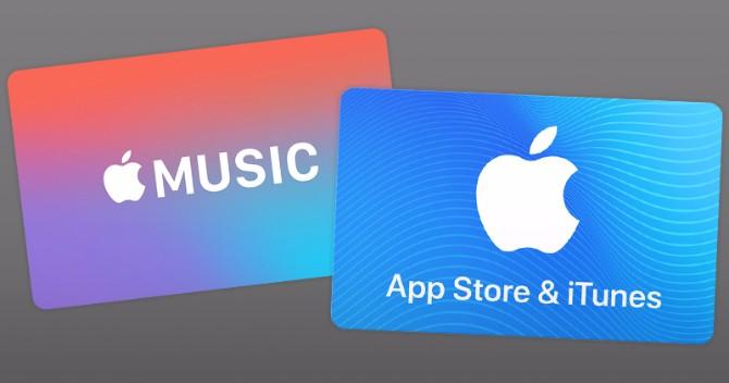 Finden Sie iTunes Geschenkkarten