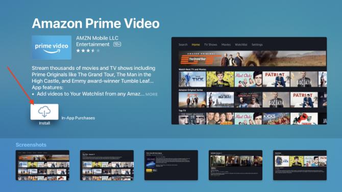Herunterladen der Amazon Prime Video App