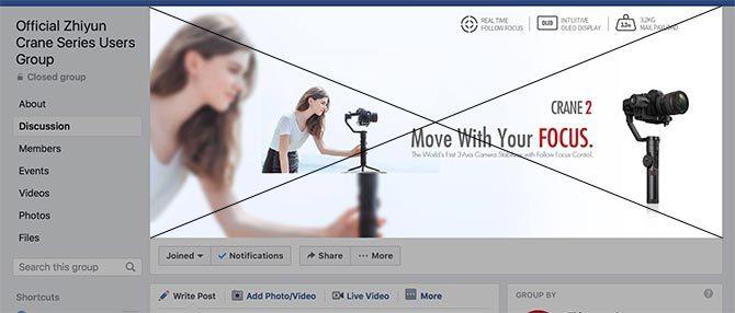 Taille de la photo de couverture du groupe Facebook