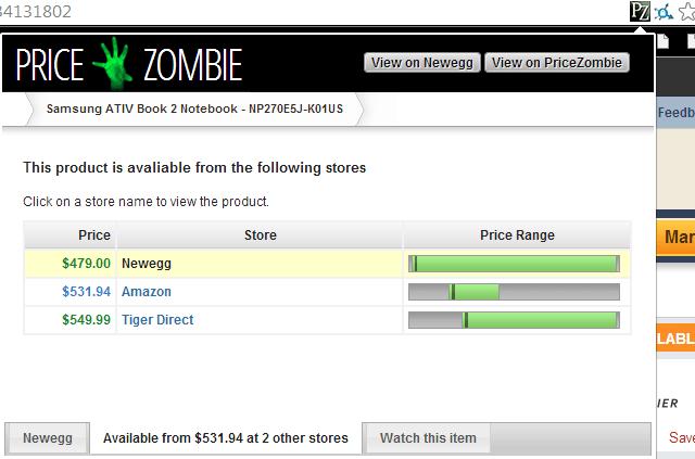 Preis Zombie - Andere Websites