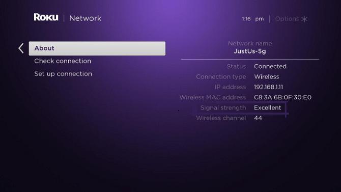 connexion wifi roku