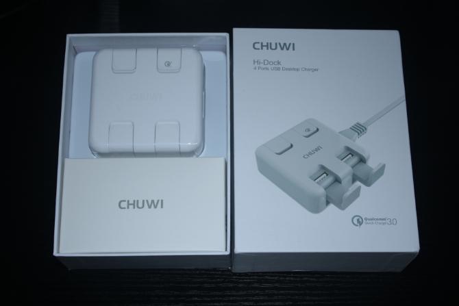 Chuwi Hi-Dock Desktop-Ladegerät Bewertung (und Werbegeschenk) Chuwi Hi Dock Box Ouvertüre