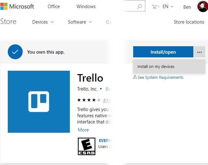 Windows-10-App-All-Geräte installieren
