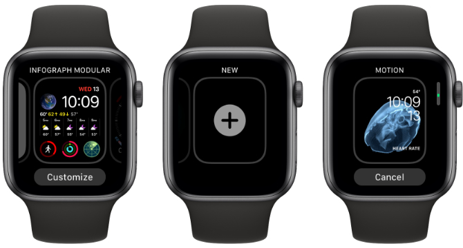 Apple Watch fügt neue Gesichter hinzu
