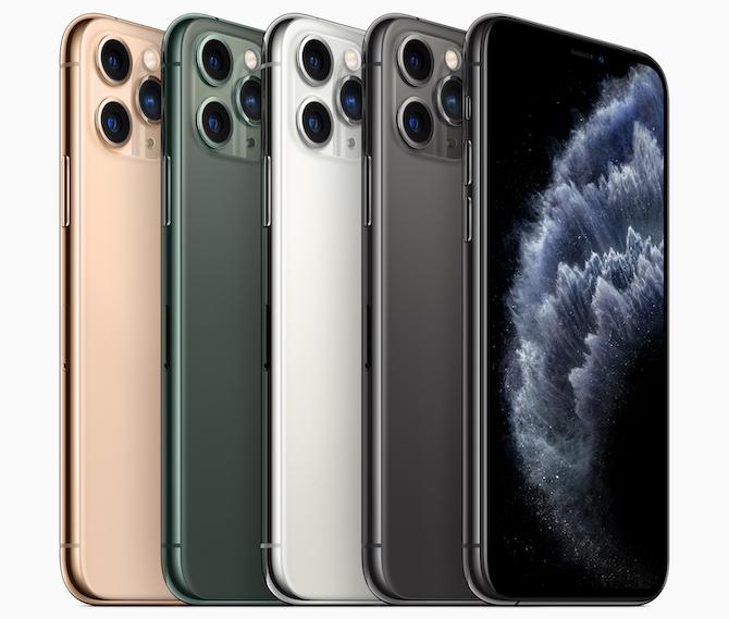 iPhone 11 Pro in seinen vier verfügbaren Farben