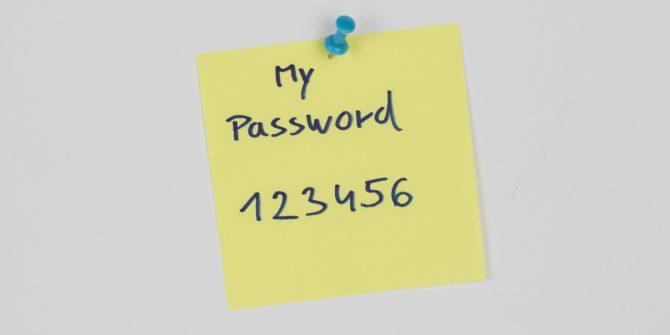 Passwort auf einem Post-It