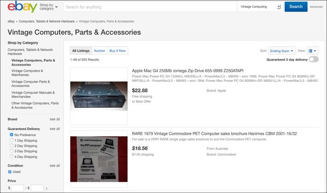 Section informatique vintage eBay