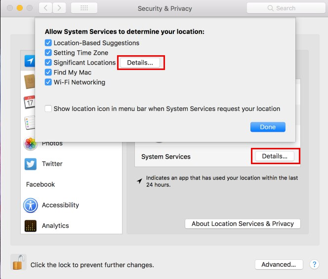 Mac Tracking System Services