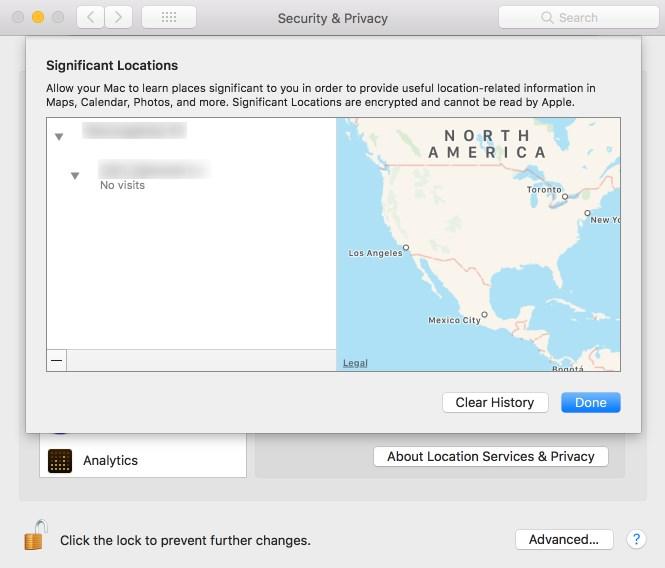 Wichtige Orte für Mac