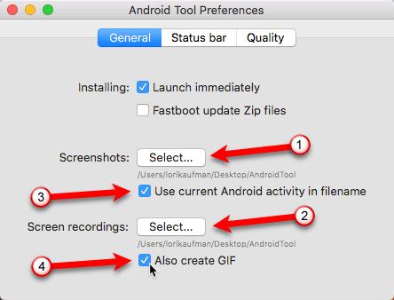 AndroidTool-Einstellungen