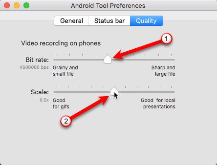AndroidTool-Qualitätseinstellungen