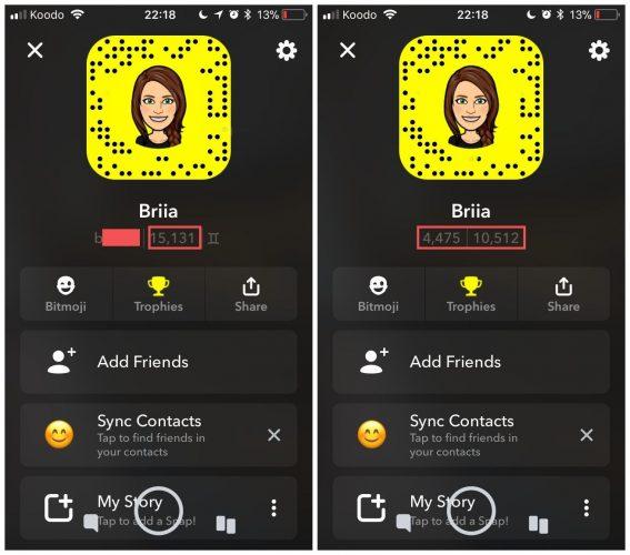 finde Snapchat Score