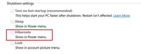 So fügen Sie den Ruhezustand zu Windows 10 hinzu Startmenü Windows 10 Ruhezustand