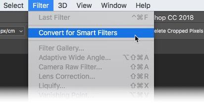 Photoshop CC 2018 Konvertieren für intelligente Filter