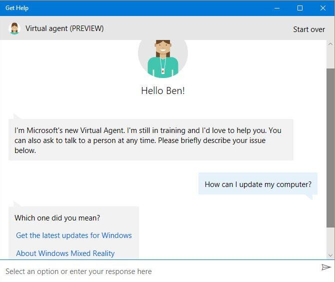 Obtenez de l'aide via l'application Obtenir de l'aide de Windows 10