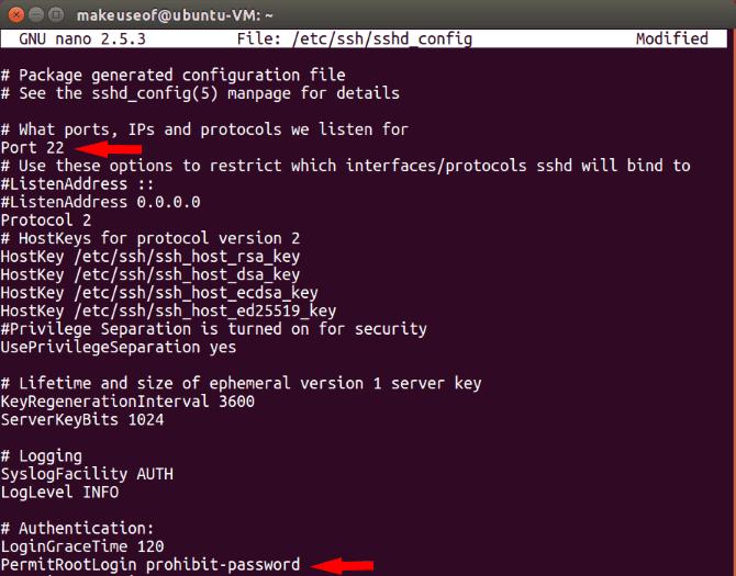 ubuntu sshd config