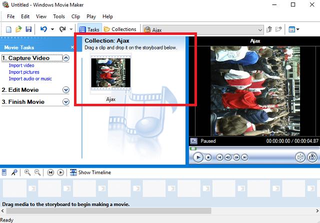Comment faire pivoter des fichiers vidéo sur votre Mac et PC Movie Maker Rotation importée