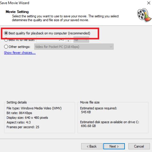Comment faire pivoter des fichiers vidéo sur votre Mac et PC Movie Maker Rotate Save 498x500