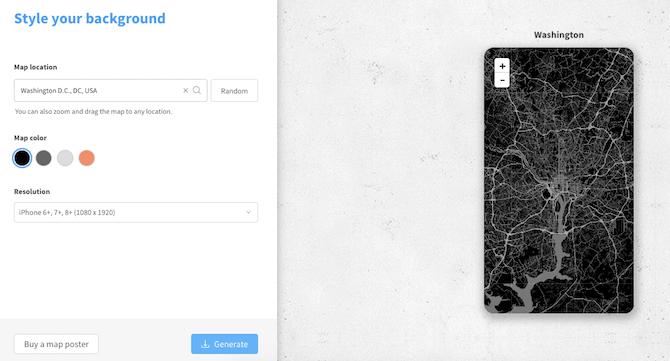 So legen Sie einen beliebigen Kartenstandort als Hintergrundbild für Ihr Telefon fest
