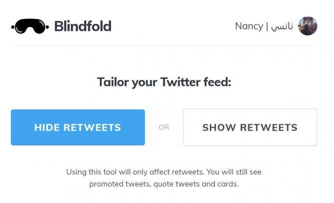So schließen Sie Retweets von der Anzeige in Ihrem Twitter-Feed aus Ausblenden von Retweets e1523551218424