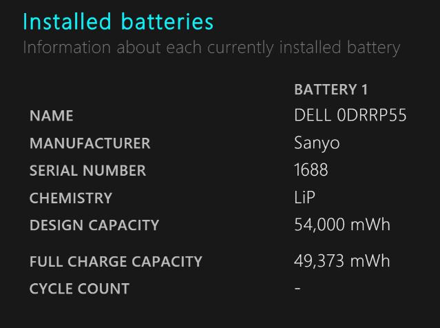 Batteriebericht