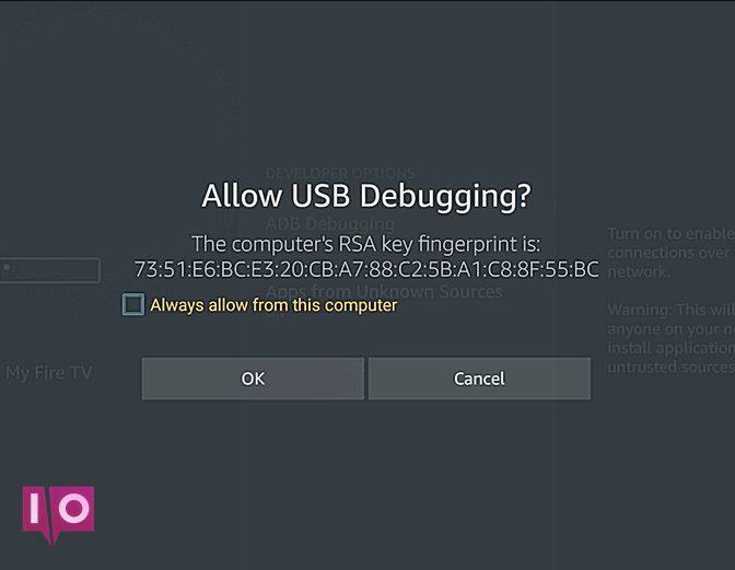 Activer le débogage USB sur Fire Stick
