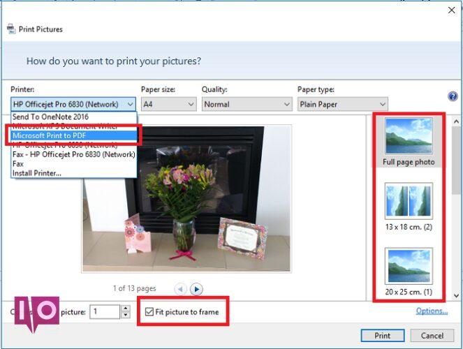 5 outils gratuits pour éditer des fenêtres de fichiers PDF imprimer des images au format PDF choisir une imprimante