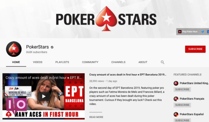 PokerStars est la meilleure chaîne YouTube pour regarder des vidéos de poker en ligne gratuitement