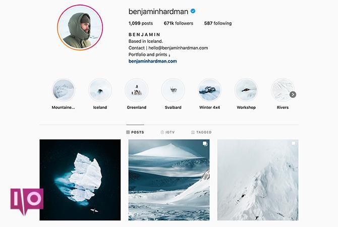 Thèmes Instagram bleus benjaminhardman