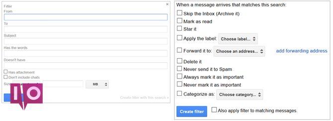 paramètres gmail créer un filtre