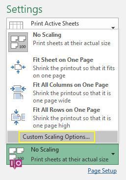 options d'échelle personnalisées