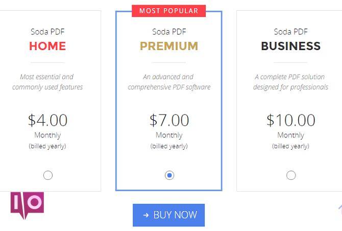 soda pdf prix