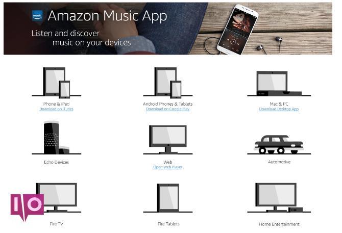 Disponibilité de l'application Amazon Music