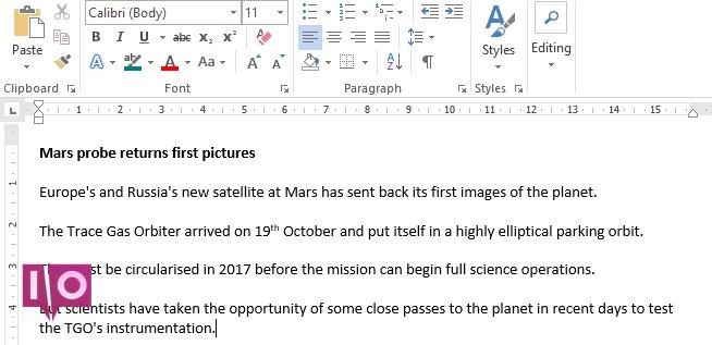 Microsoft Word compare les documents révisés