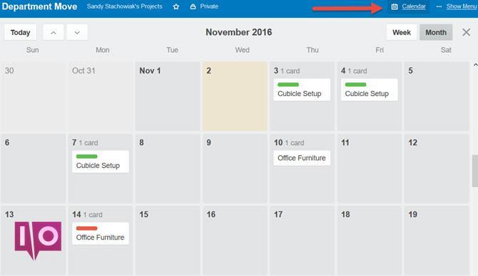 Trello Dept Move Calendar