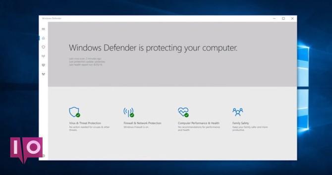 Mise à jour des créateurs Windows 10 - Defender