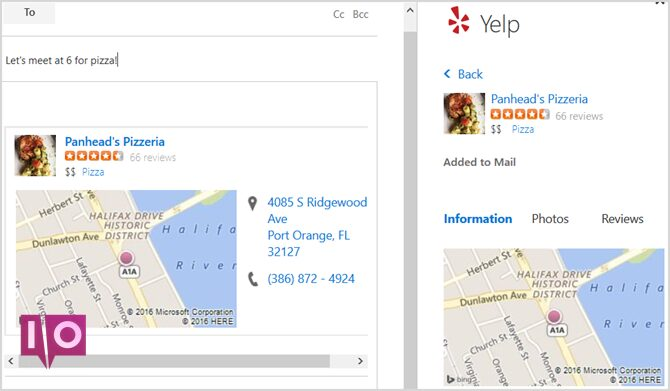 Nouvel Outlook.com - Yelp