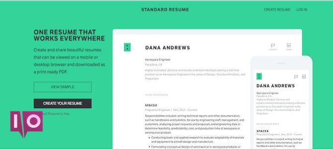 Outil de CV - CV standard