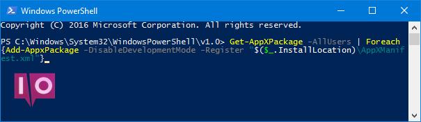 essai de l'application PowerShell