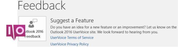 Outlook2016 Suggestion Fonctionnalité