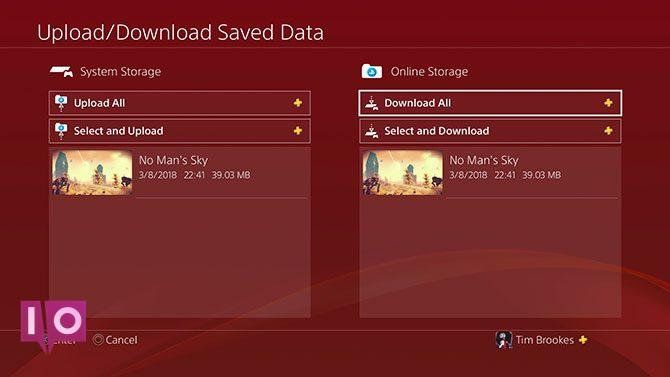Télécharger / télécharger des données de sauvegarde sur PlayStation Plus