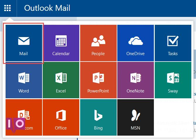 Lanceur d'applications Outlook.com